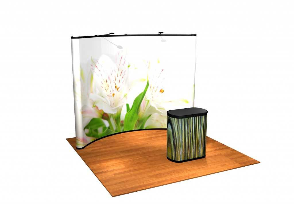 10 foot classic pop up with graphic panels