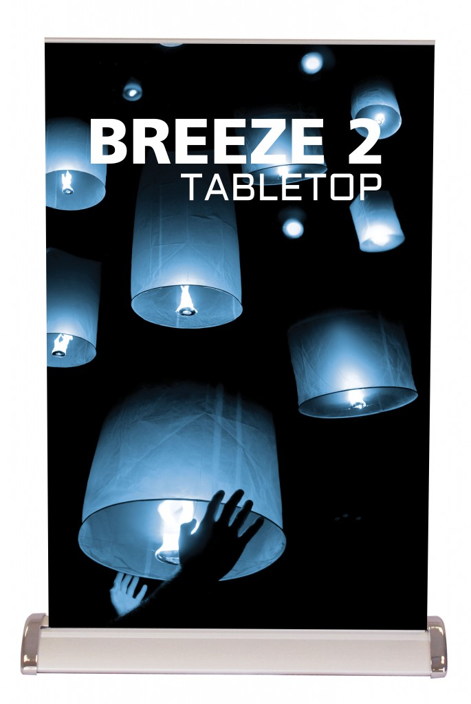 retractable breeze 2 table top banner