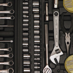 tools for a trade show booth