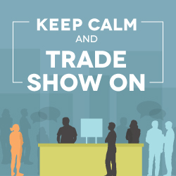 keep your trade show booth clean and simple