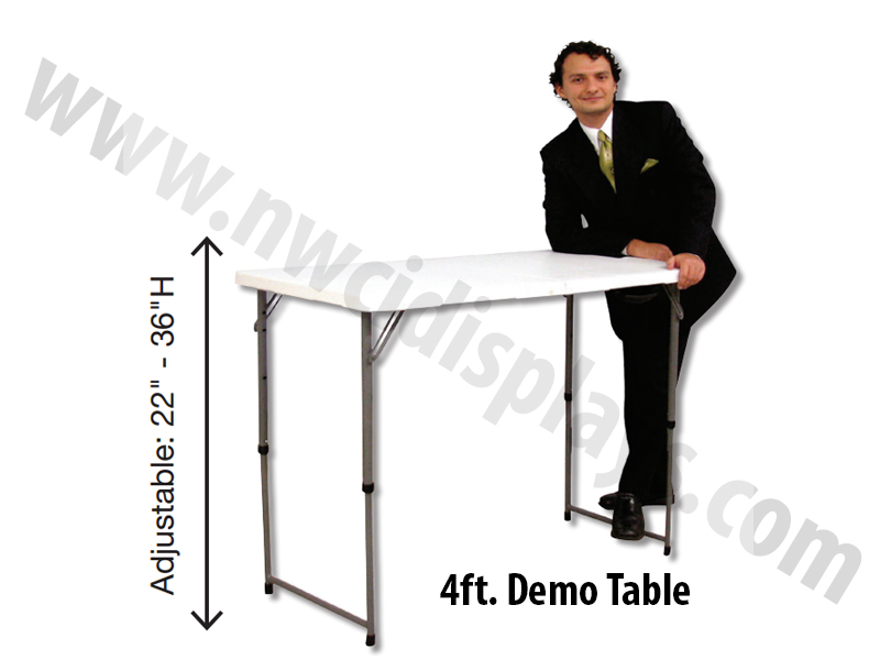 folding trade show tables nwci displays